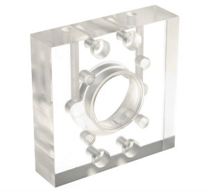 Perspex CNC Machined Part for Medical Application