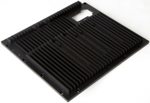 Bespoke Machined Heatsink - Black Sulphuric Anodised Aluminium